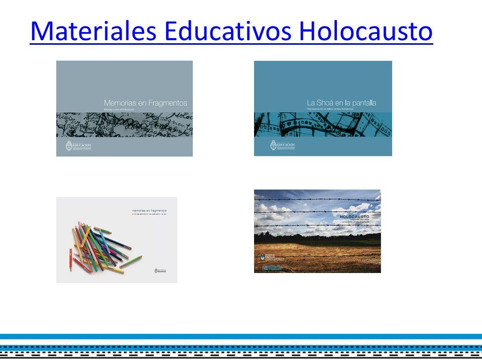 Materiales Educativos Holocausto