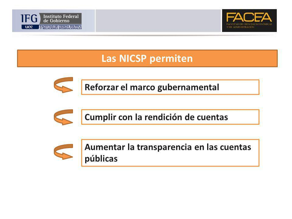 Las NICSP permiten Reforzar el marco gubernamental
