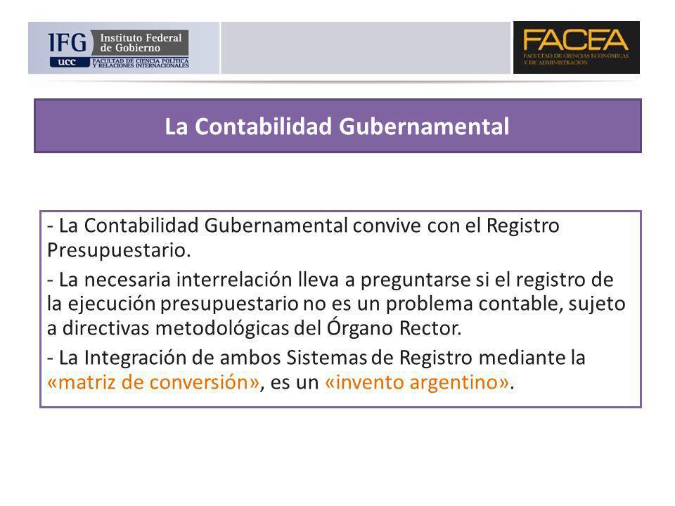 La Contabilidad Gubernamental