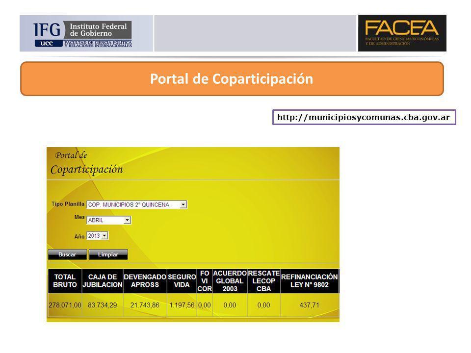 Portal de Coparticipación