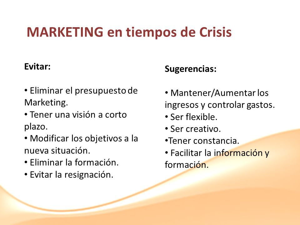 MARKETING en tiempos de Crisis