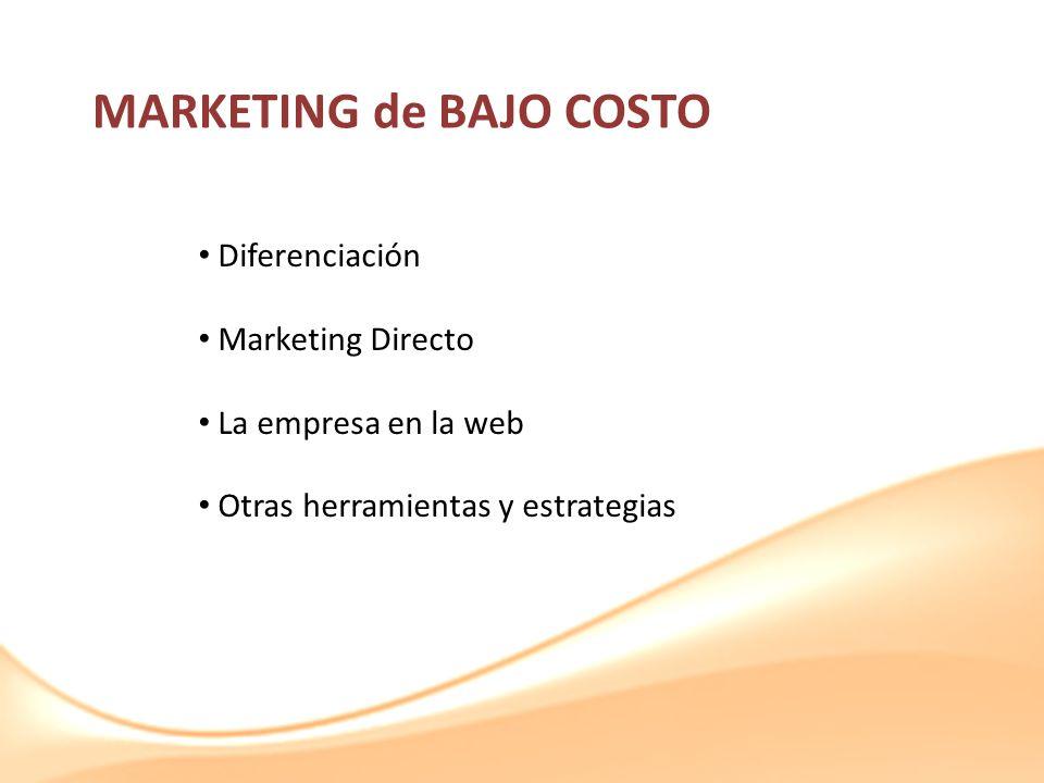 MARKETING de BAJO COSTO