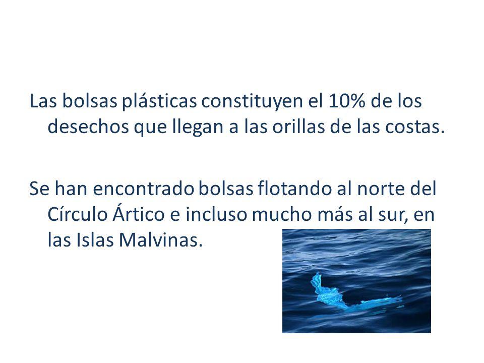 Las bolsas plásticas constituyen el 10% de los desechos que llegan a las orillas de las costas.
