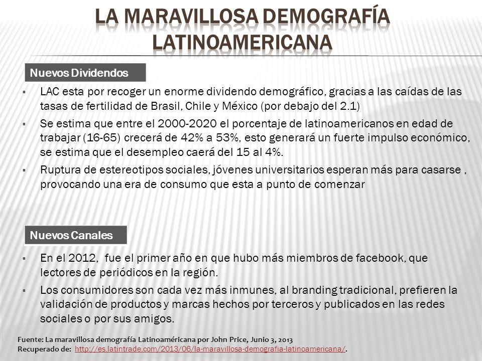La maravillosa demografía latinoamEricana