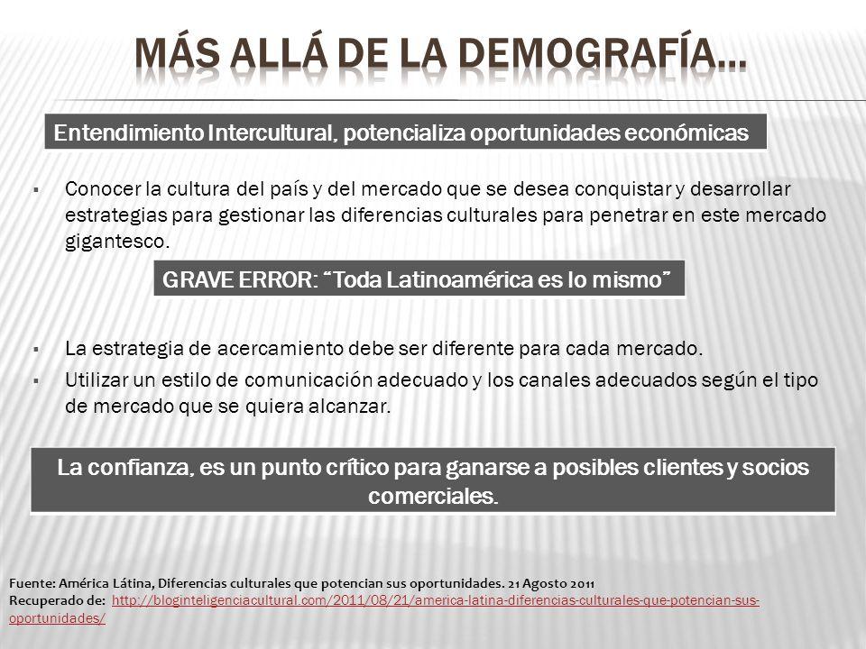 MÁS ALLÁ DE LA DEMOGRAFÍA…