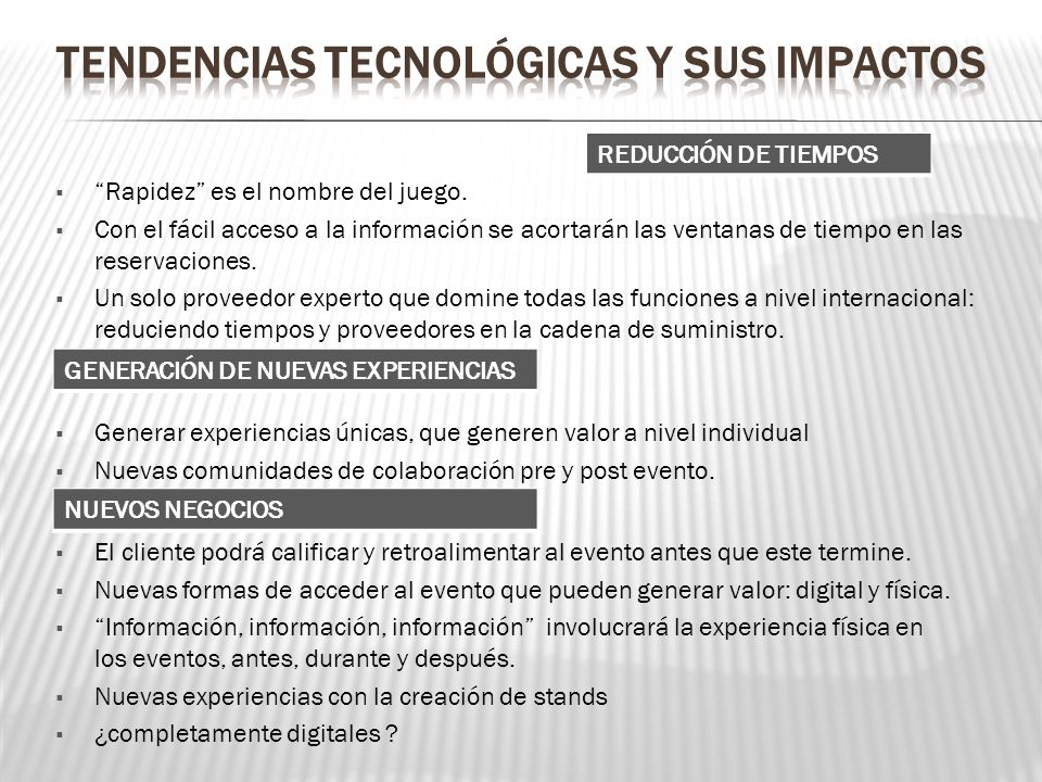 Tendencias tecnológicas y sus impactos