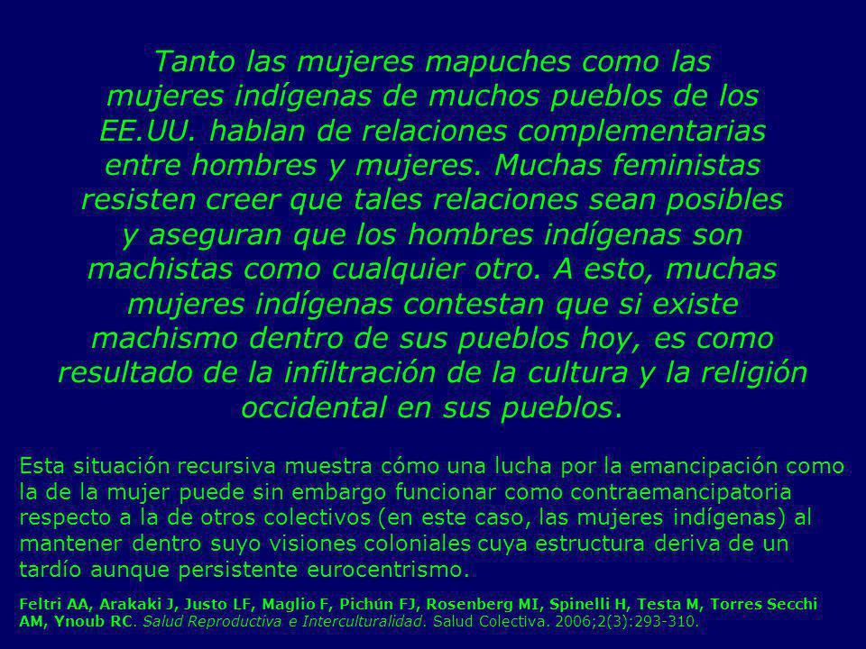 Tanto las mujeres mapuches como las