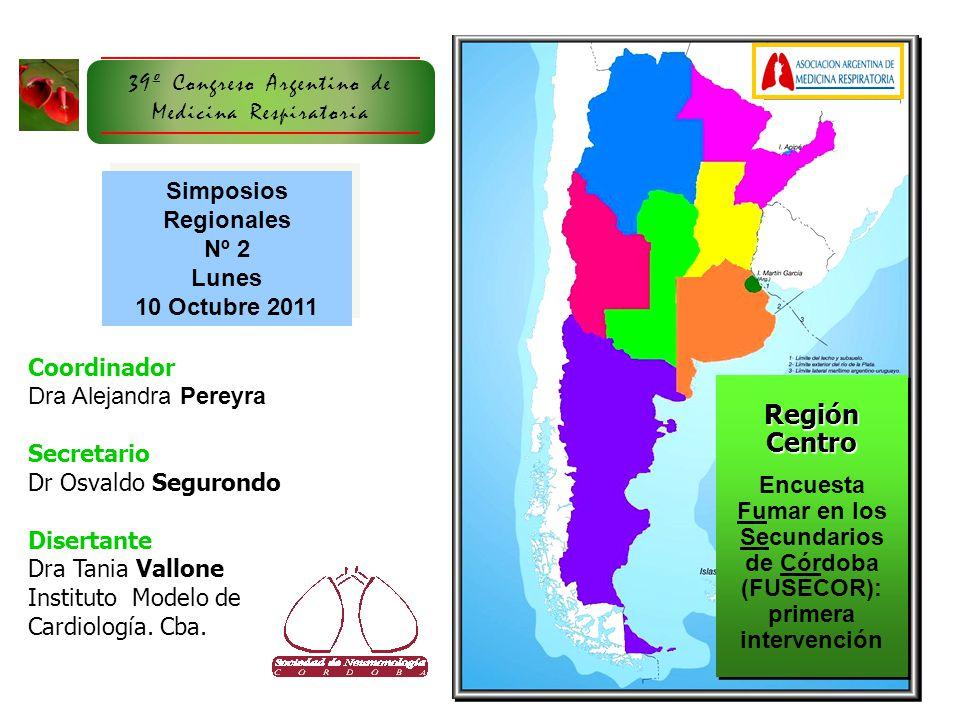 Región Centro 39º Congreso Argentino de Medicina Respiratoria