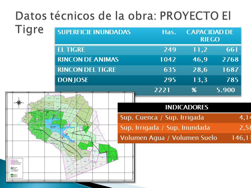 Datos técnicos de la obra: PROYECTO El Tigre