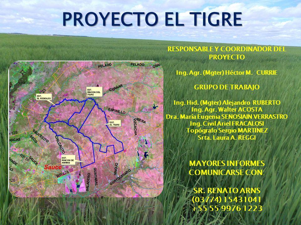 PROYECTO EL TIGRE MAYORES INFORMES COMUNICARSE CON: SR. RENATO ARNS