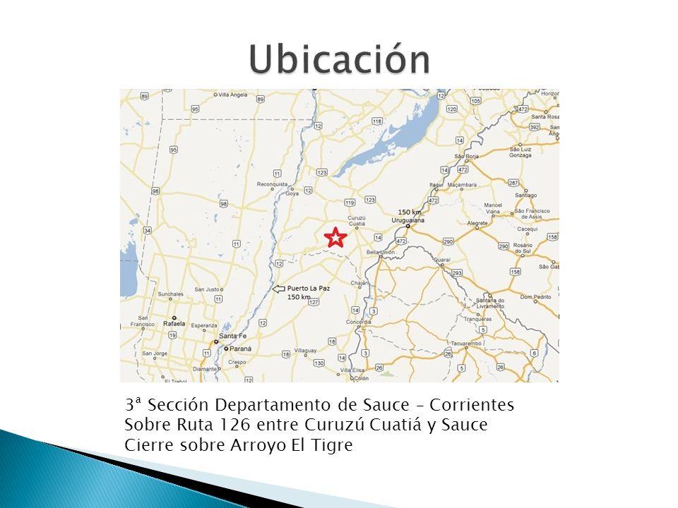Ubicación 3ª Sección Departamento de Sauce – Corrientes