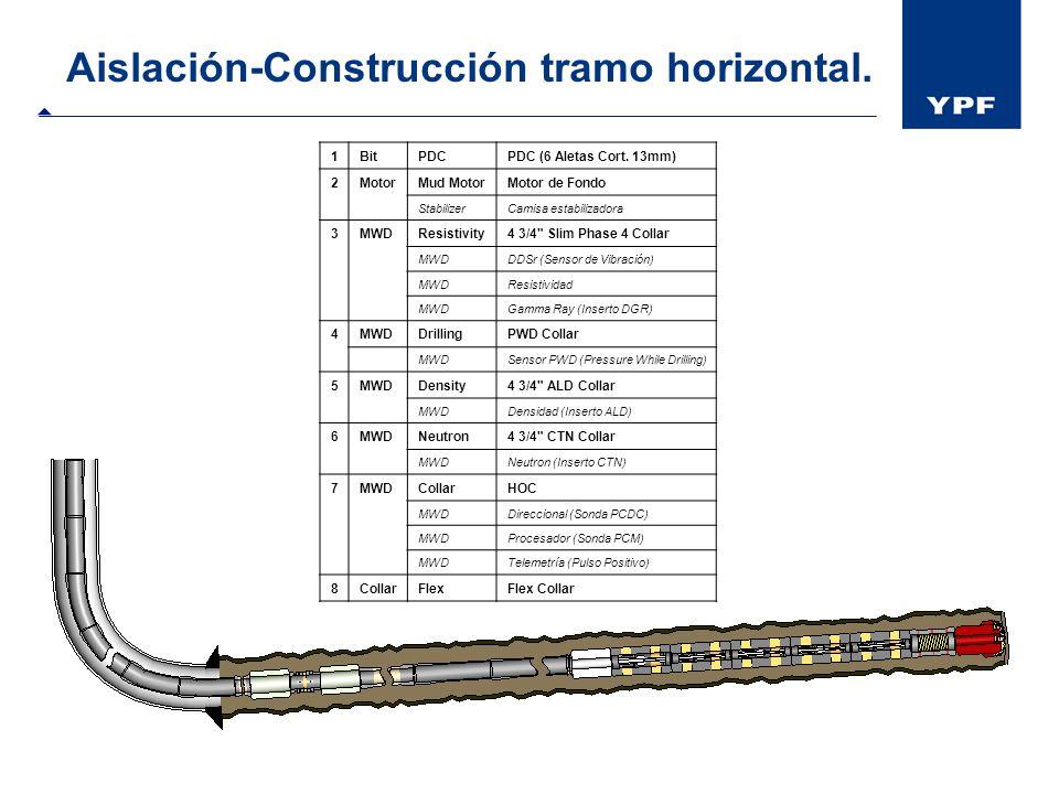Aislación-Construcción tramo horizontal.