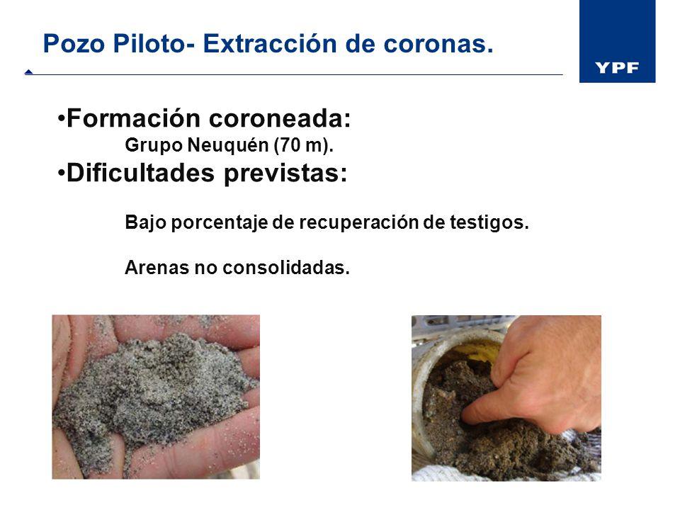Pozo Piloto- Extracción de coronas.
