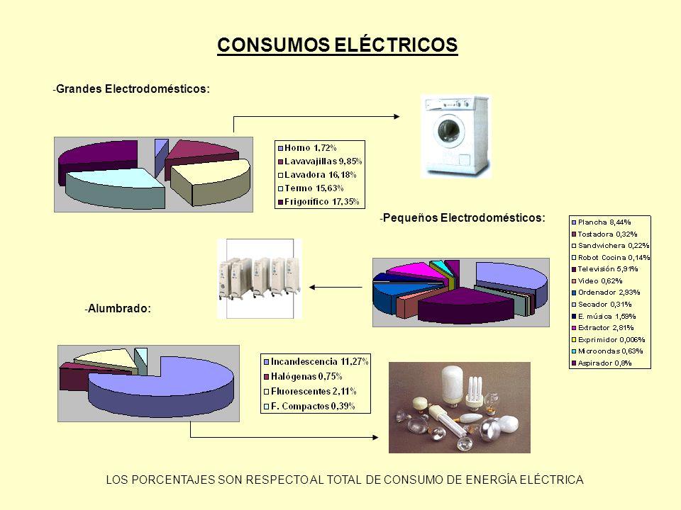 CONSUMOS ELÉCTRICOS Grandes Electrodomésticos:
