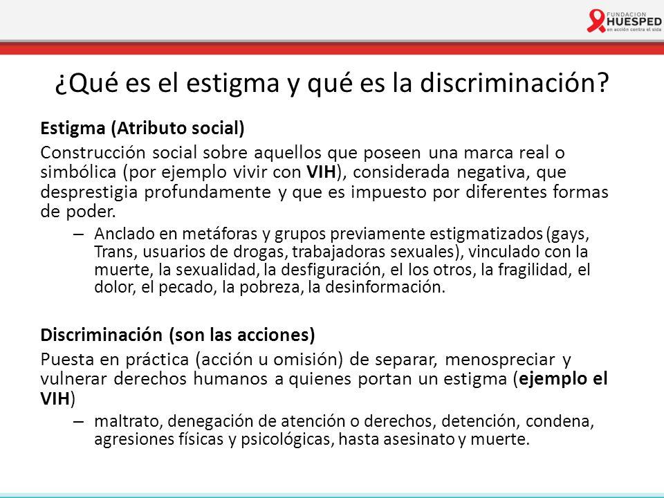 ¿Qué es el estigma y qué es la discriminación