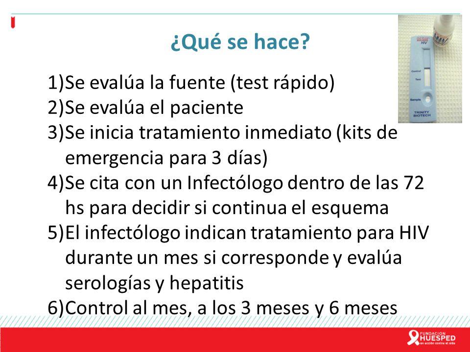¿Qué se hace Se evalúa la fuente (test rápido) Se evalúa el paciente