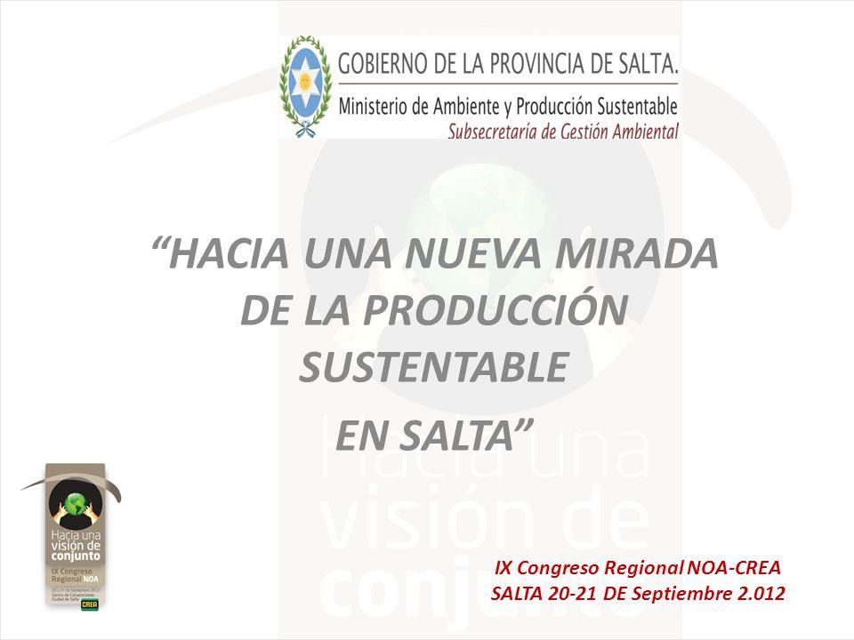 HACIA UNA NUEVA MIRADA DE LA PRODUCCIÓN SUSTENTABLE EN SALTA