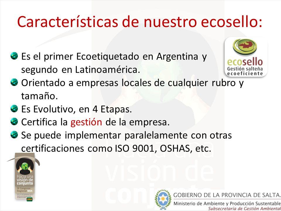 Características de nuestro ecosello: