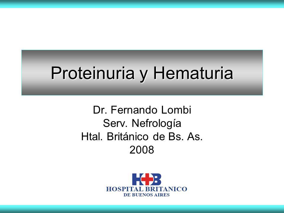 Proteinuria y Hematuria