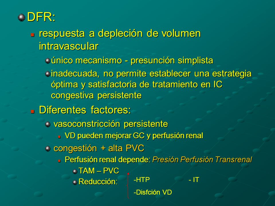 DFR: respuesta a depleción de volumen intravascular