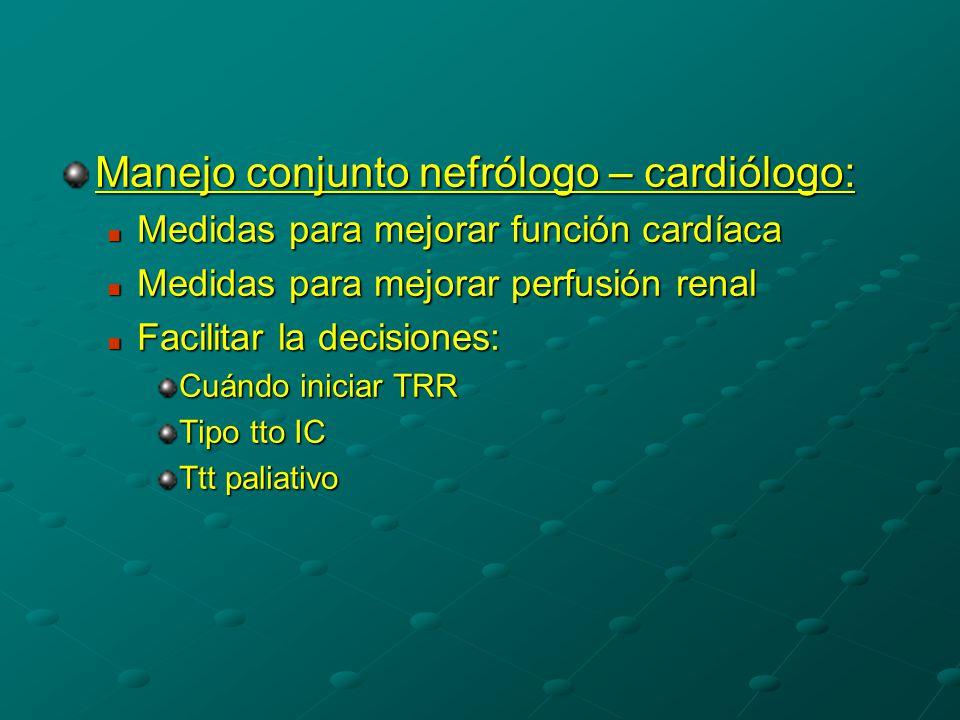 Manejo conjunto nefrólogo – cardiólogo: