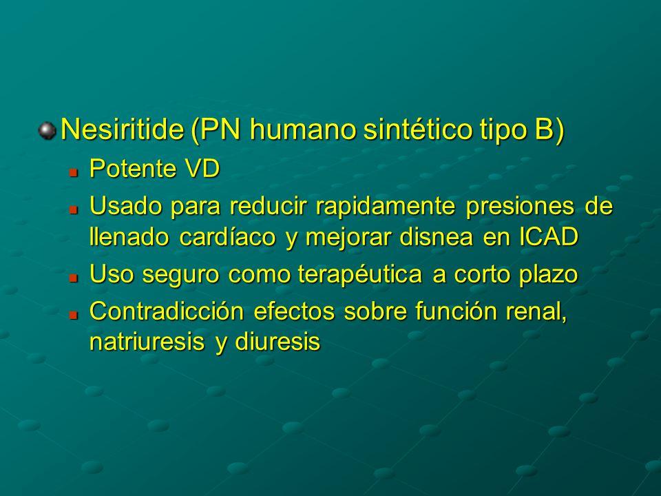 Nesiritide (PN humano sintético tipo B)