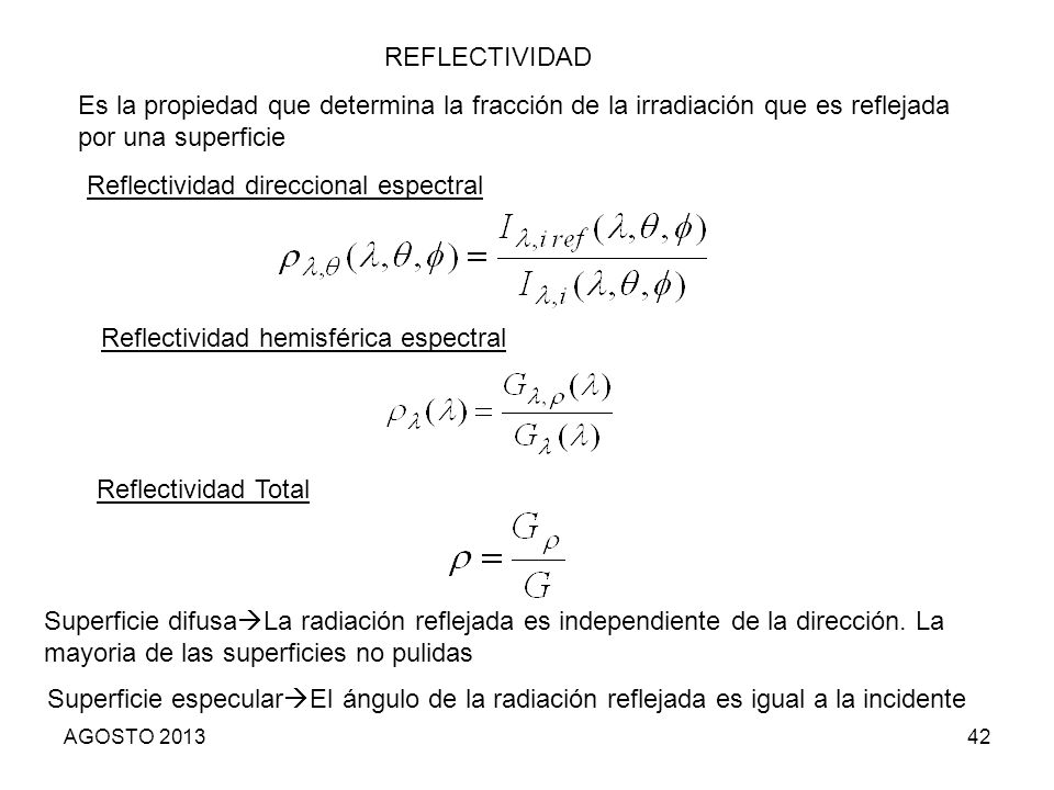 Reflectividad direccional espectral