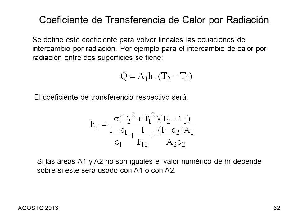 Coeficiente de Transferencia de Calor por Radiación