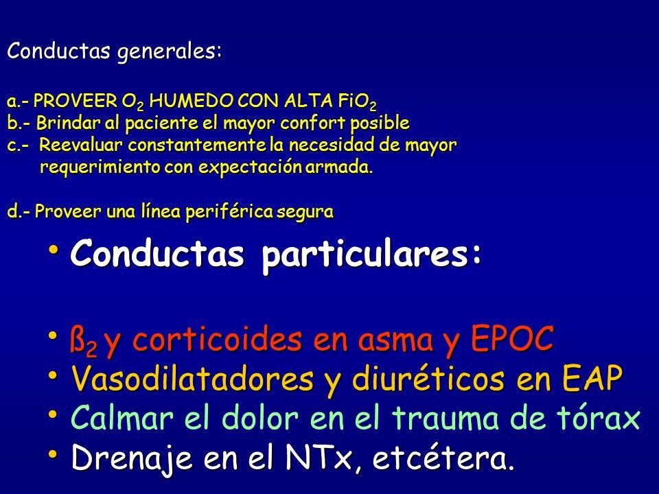 Conductas particulares: