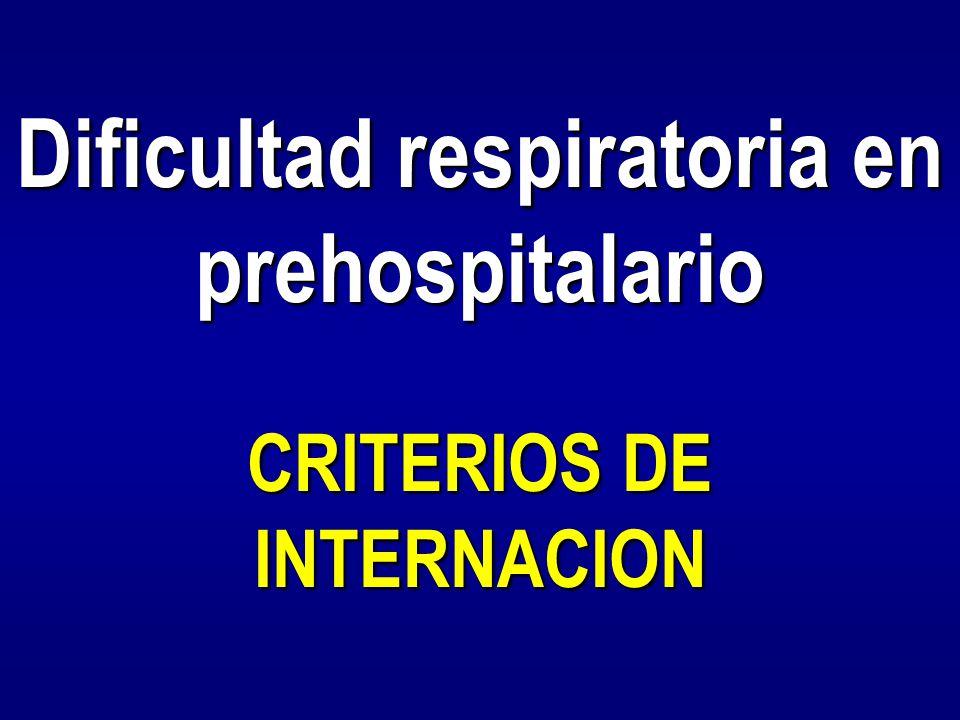 Dificultad respiratoria en prehospitalario