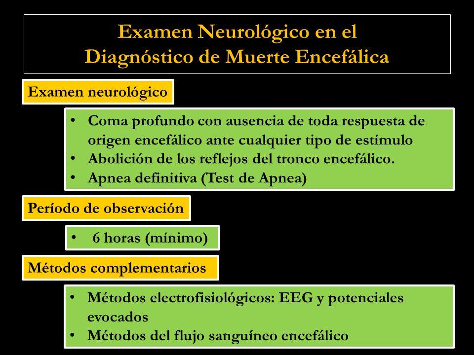 Examen Neurológico en el Diagnóstico de Muerte Encefálica
