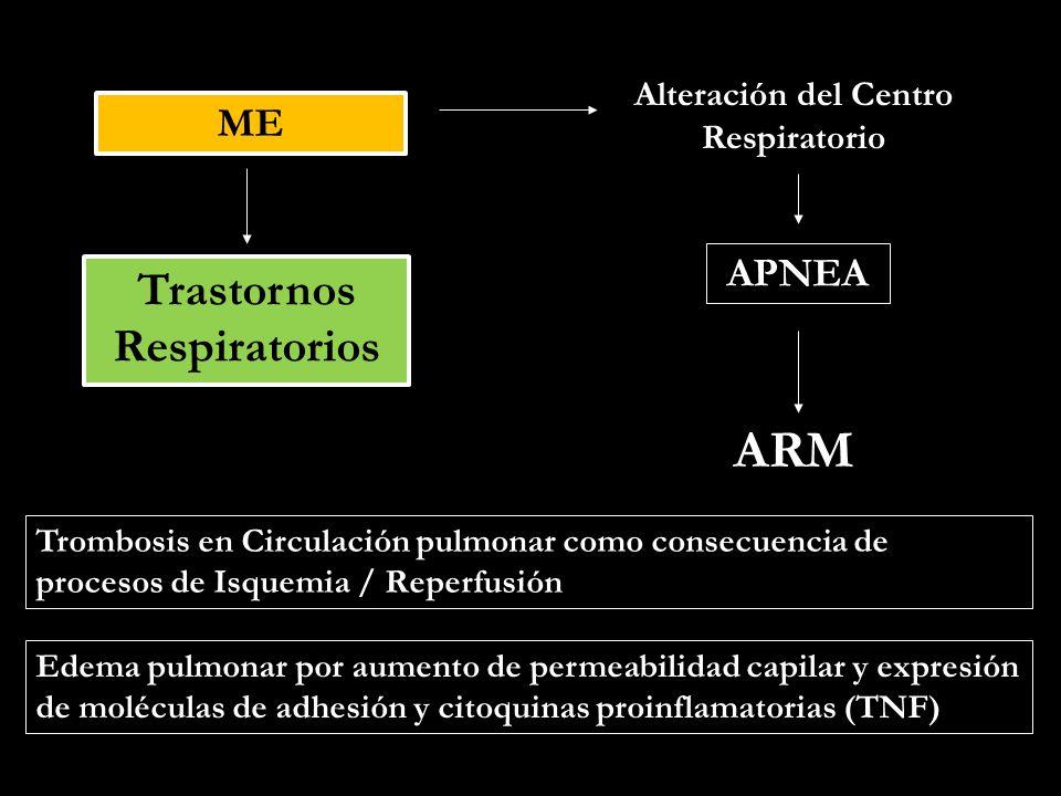 Alteración del Centro Respiratorio Trastornos Respiratorios
