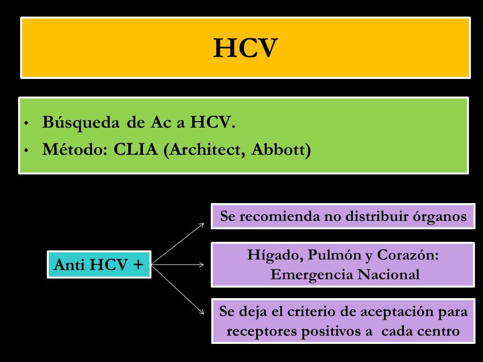Se recomienda no distribuir órganos Hígado, Pulmón y Corazón: