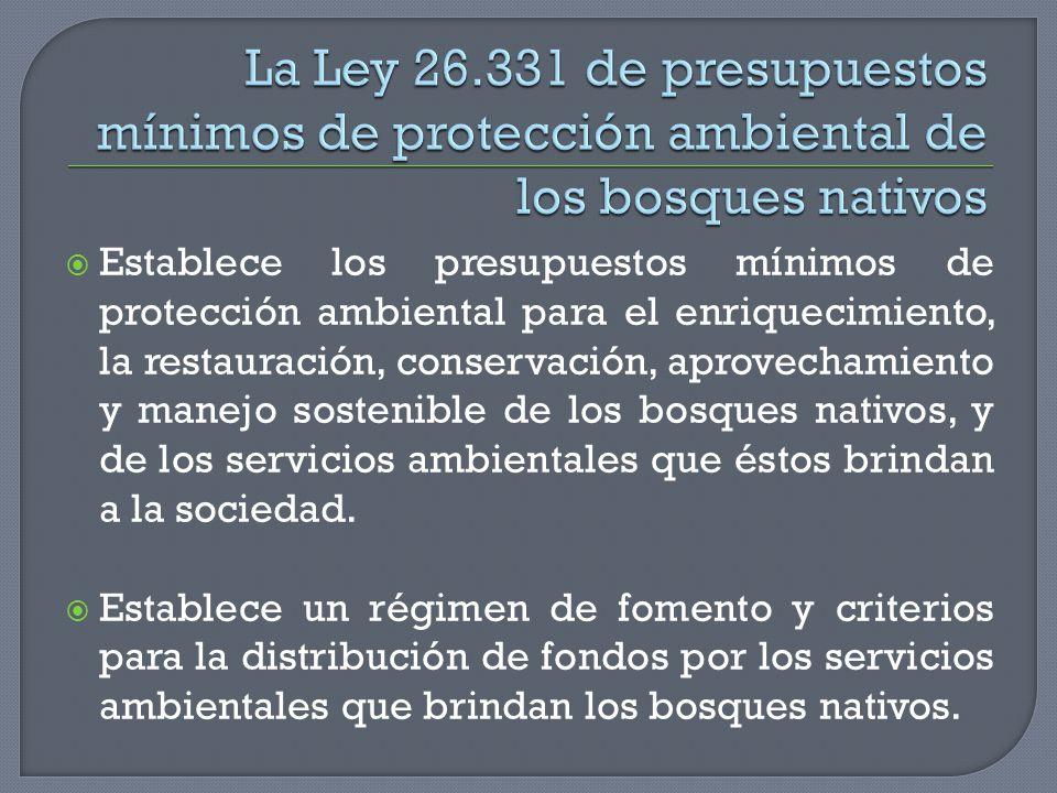 La Ley 26.331 de presupuestos mínimos de protección ambiental de los bosques nativos