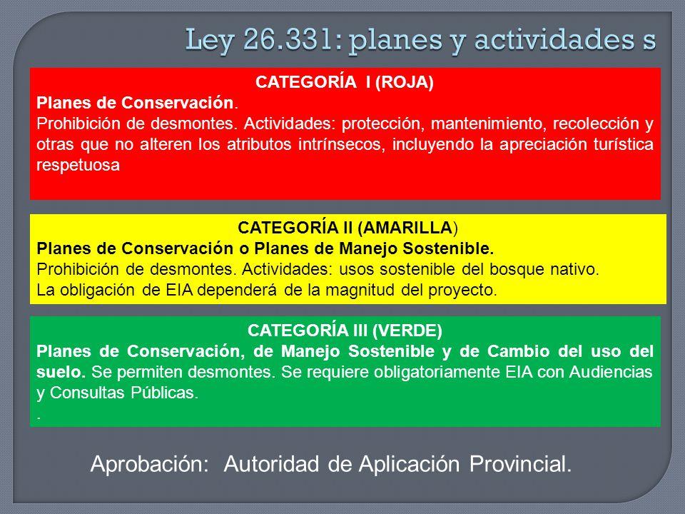 Ley 26.331: planes y actividades s