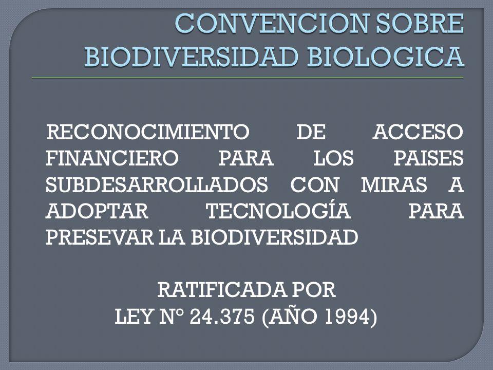 CONVENCION SOBRE BIODIVERSIDAD BIOLOGICA