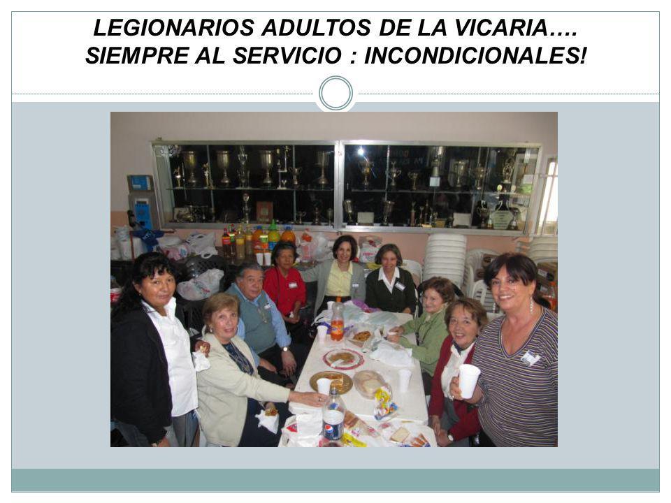 LEGIONARIOS ADULTOS DE LA VICARIA…