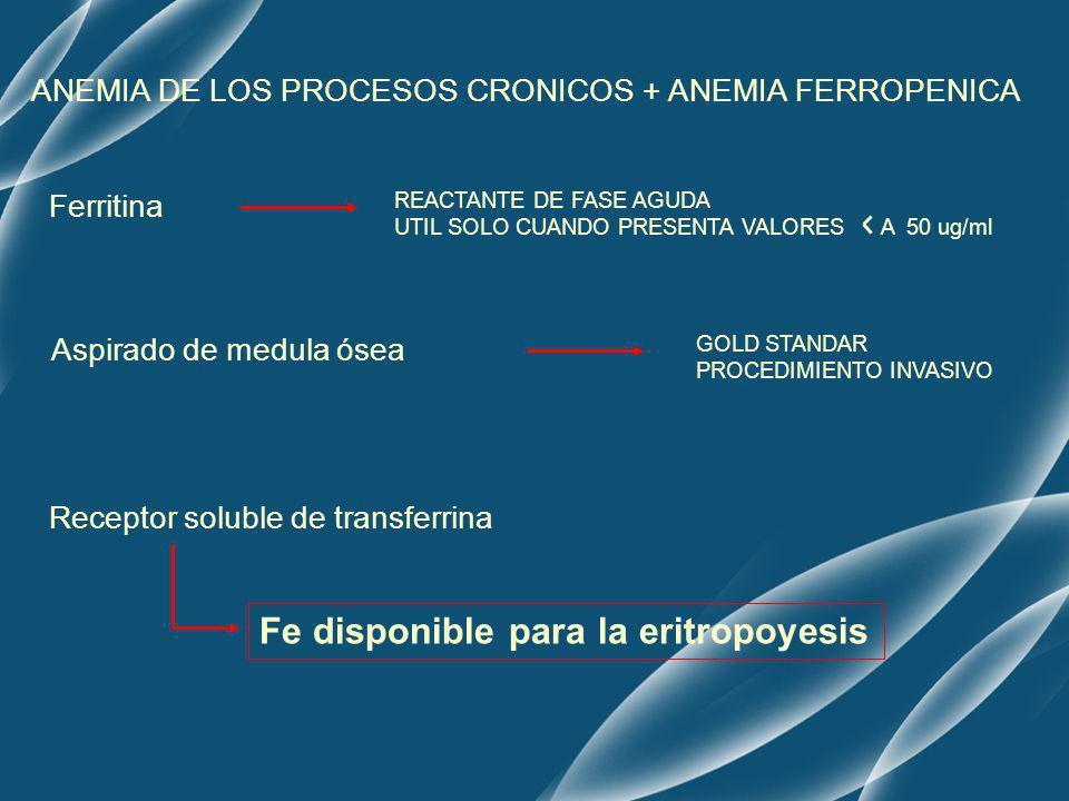 Fe disponible para la eritropoyesis