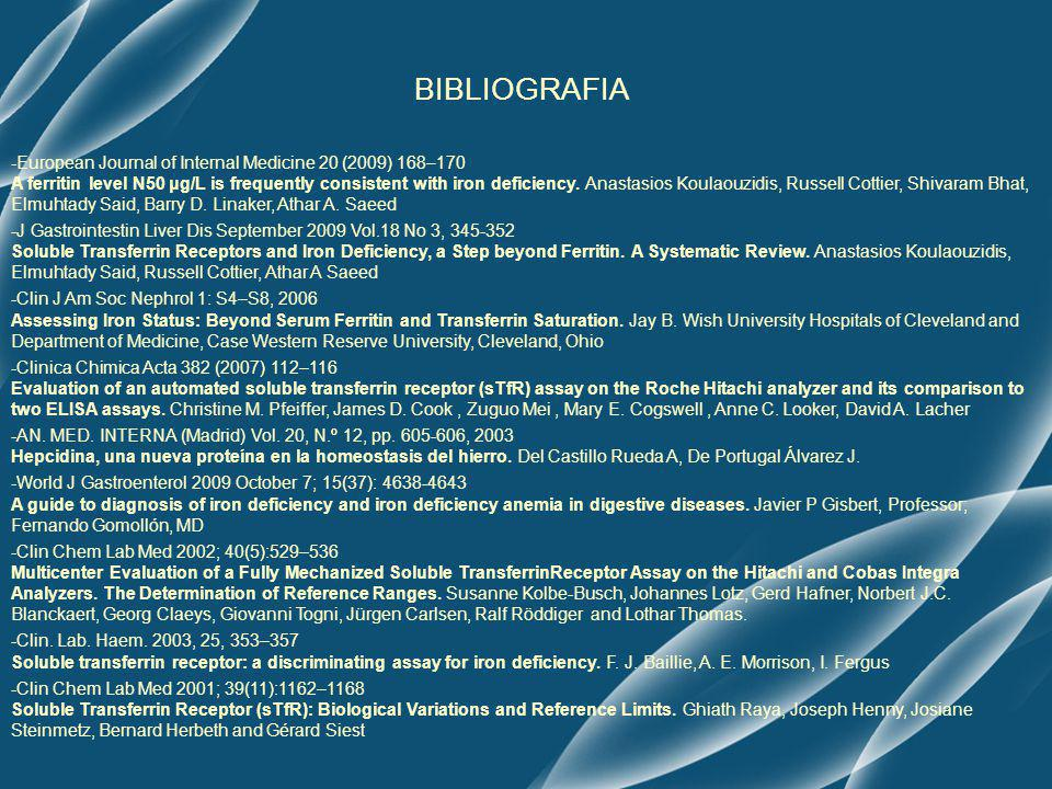 BIBLIOGRAFIA -European Journal of Internal Medicine 20 (2009) 168–170