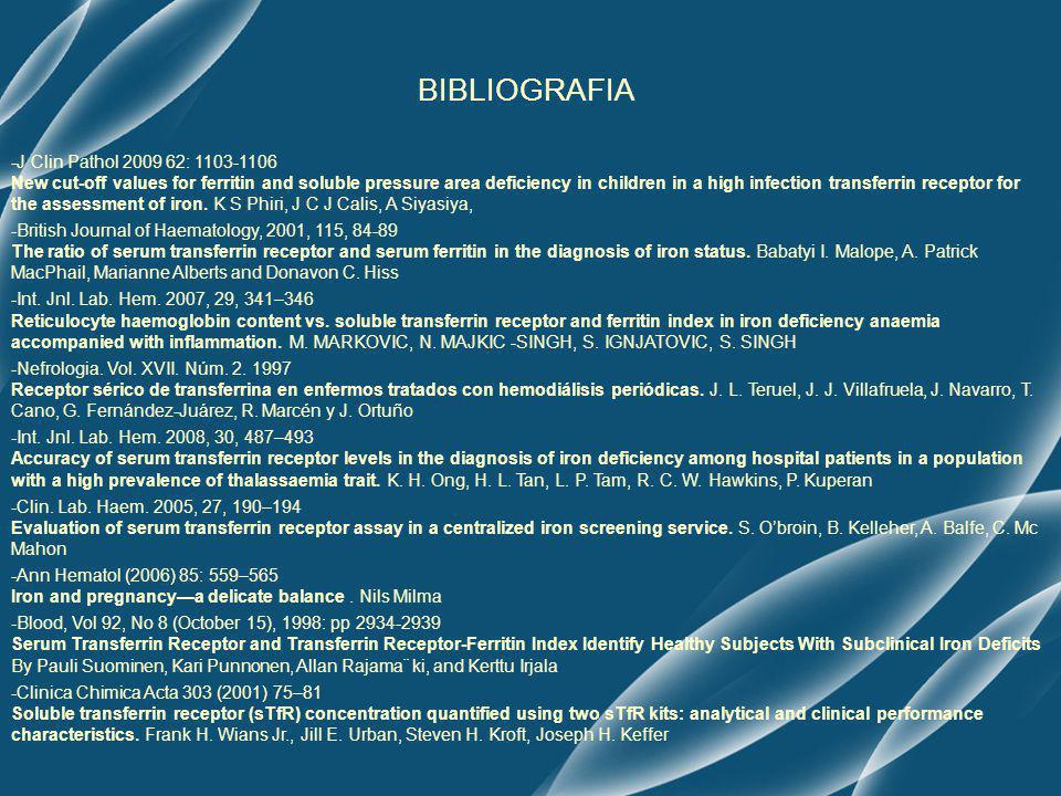 BIBLIOGRAFIA -J Clin Pathol 2009 62: 1103-1106