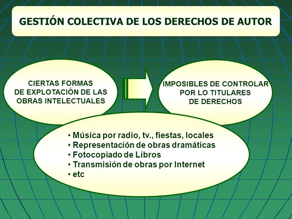 GESTIÓN COLECTIVA DE LOS DERECHOS DE AUTOR