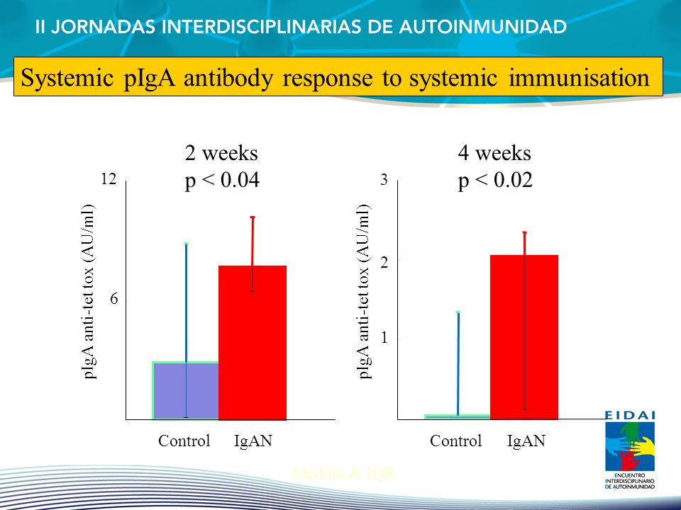 Systemic pIgA antibody response to systemic immunisation