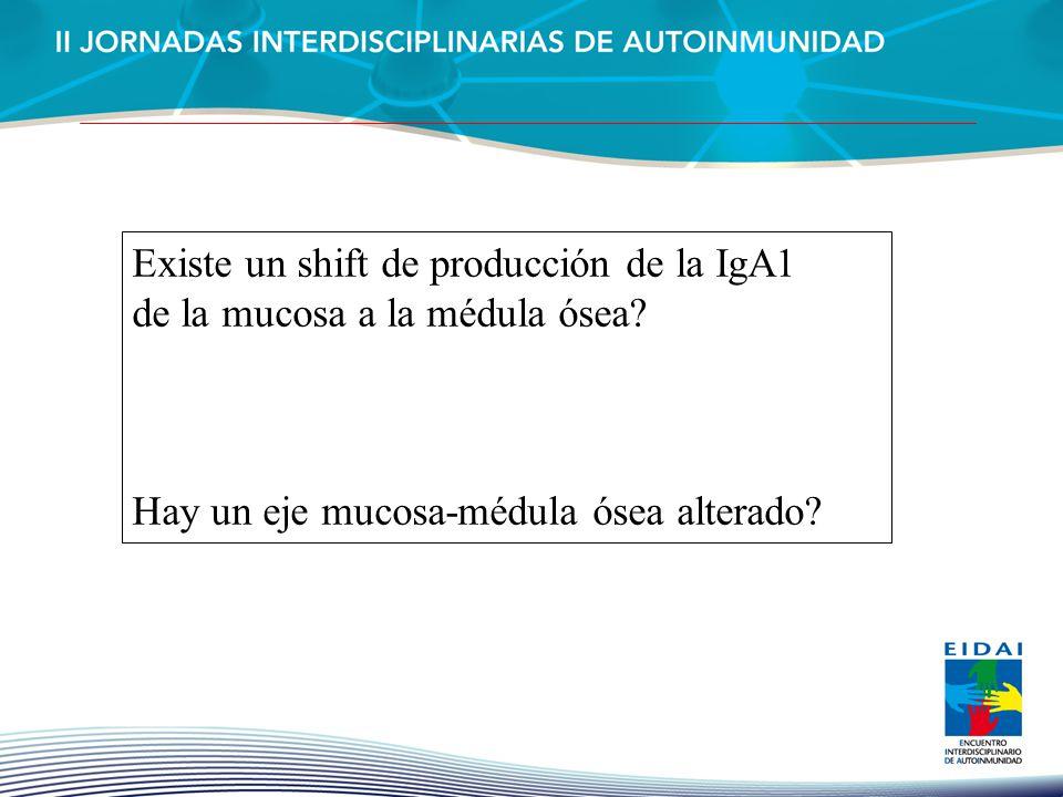 Existe un shift de producción de la IgA1