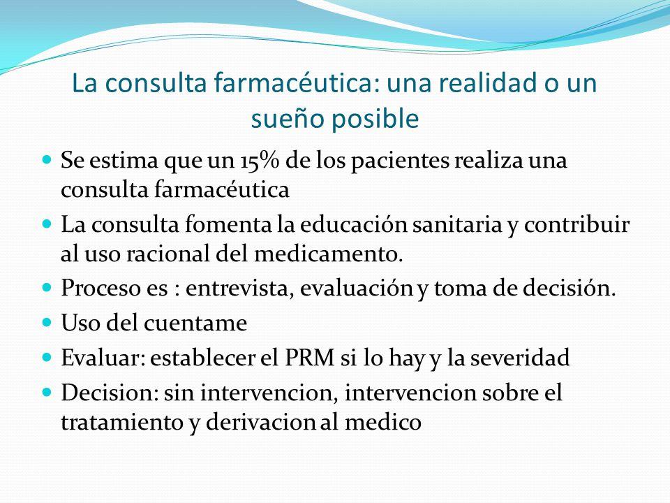 La consulta farmacéutica: una realidad o un sueño posible