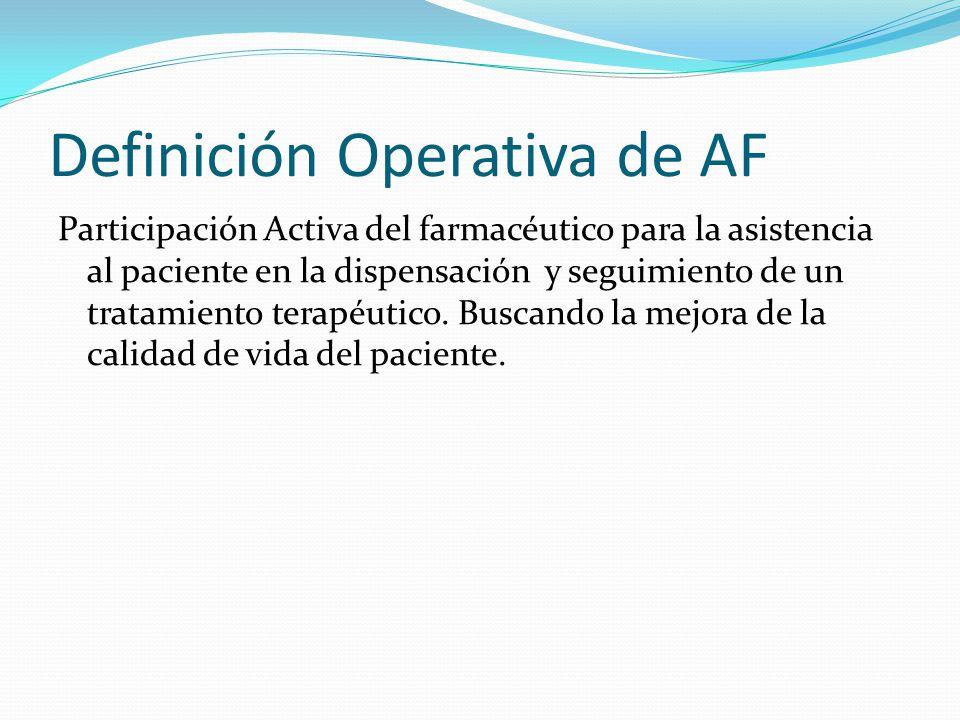 Definición Operativa de AF