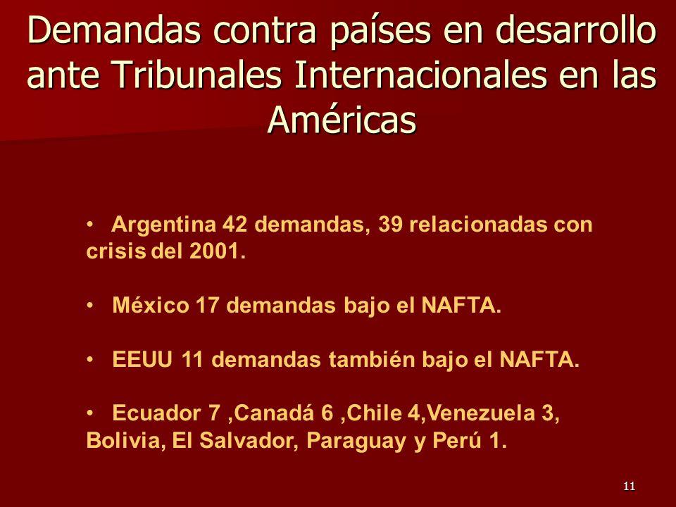 Demandas contra países en desarrollo ante Tribunales Internacionales en las Américas