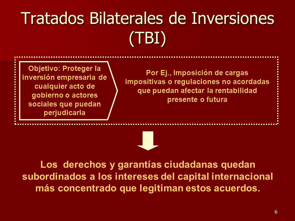 Tratados Bilaterales de Inversiones (TBI)