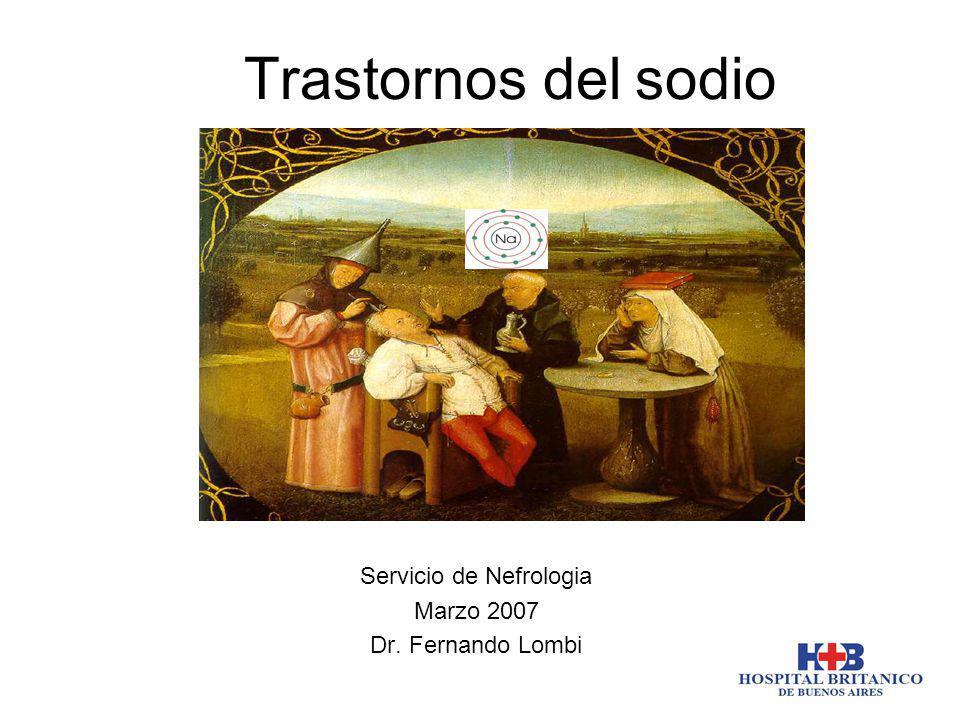 Servicio de Nefrologia Marzo 2007 Dr. Fernando Lombi