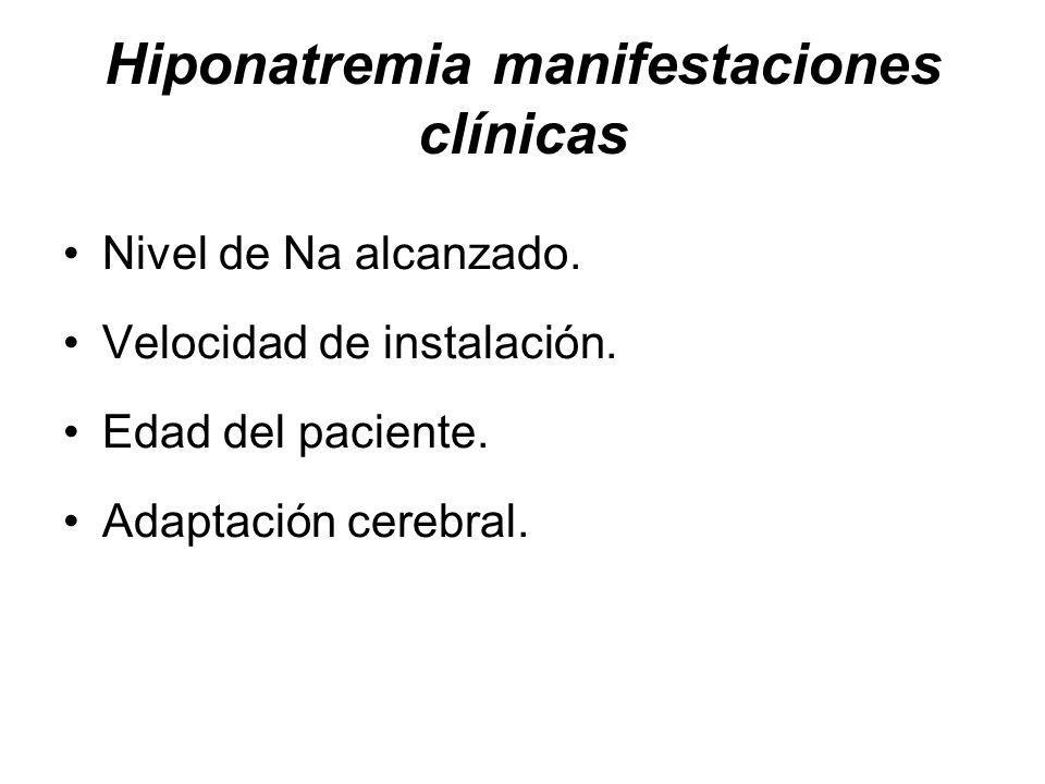 Hiponatremia manifestaciones clínicas