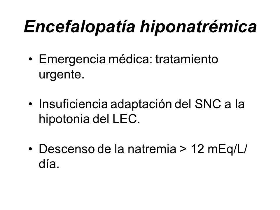 Encefalopatía hiponatrémica